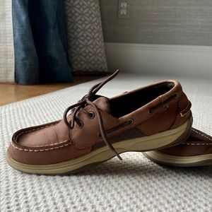 Sperry Lanyard Boat shoes,  Boys size 5